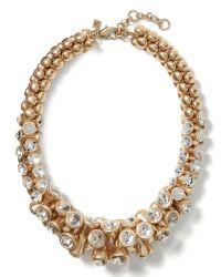 Banana Republic | Metallic Sparkle Chandelier Necklace | Lyst