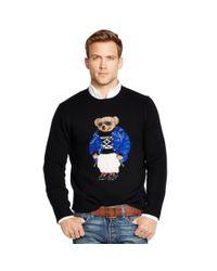 Polo Ralph Lauren - Black Ski Polo Bear Sweater for Men - Lyst