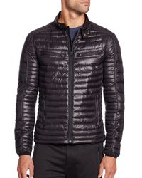 Saks Fifth Avenue   Black Quilted Puffer Coat for Men   Lyst