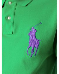 Polo Ralph Lauren Green Logo Embroidered Polo Shirt for men
