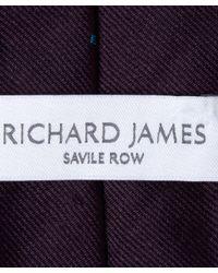 Richard James Purple Plum Tribal Lama Tie for men