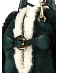Burberry Prorsum - Green Mini Bee Shearling And Suede Cross-Body Bag - Lyst