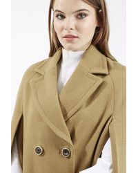 TOPSHOP Natural Neat Wool Cape