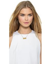 Kate Spade | Metallic Kiss A Prince License Plate Necklace - Gold | Lyst