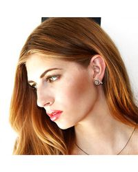 Adornia | Black Diamond And Sterling Silver Barra Bar Stud Earrings | Lyst