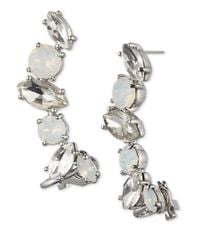 Marchesa   Metallic Crystal And Opalescent Crawlers   Lyst