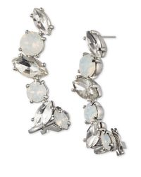 Marchesa | Metallic Crystal And Opalescent Crawlers | Lyst