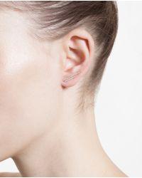 Asherali Knopfer Pink 18K Rose Gold And Diamond Bar Earring