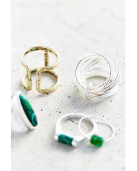 Urban Outfitters | Metallic Modern Renaissance Ring Set | Lyst