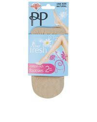 TOPSHOP - Natural Pretty Polly Pack Of Two Footsies - Lyst