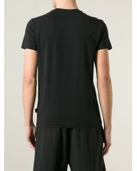 Love Moschino Black Print T-Shirt for men