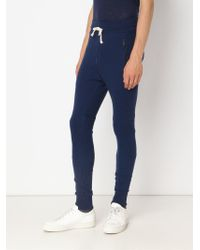 John Elliott - Blue Skinny Track Pants for Men - Lyst