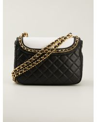 Moschino Black Quilted Jacket Shoulder Bag