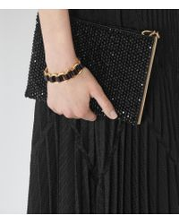 Reiss | Black Bella High-shine Leather Bracelet | Lyst