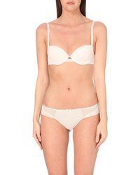 Chantelle | Floral-print Mesh T-shirt Bra, Women's, Size: 34b, Soft Pink | Lyst