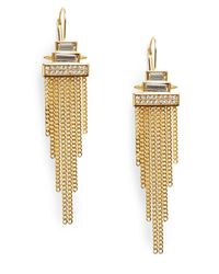 Vince Camuto - Metallic Glam Punk Chain Fringe Earrings - Lyst