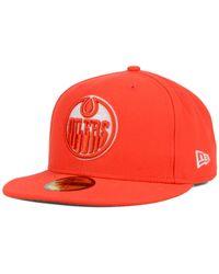 KTZ - Orange Edmonton Oilers C-Dub 59Fifty Cap for Men - Lyst