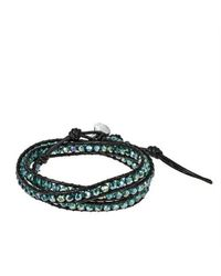 Aeravida | Multicolor Green Muse Crystal Tribal Wrap Leather Bracelet | Lyst