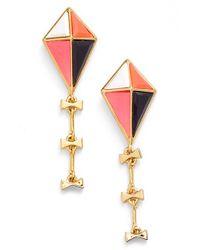 kate spade new york | Pink 'off We Go' Drop Earrings | Lyst