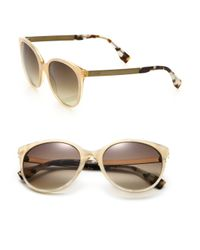 Fendi | Natural 54Mm Round Sunglasses | Lyst