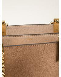 Chloé Pink Carey Tote Bag