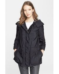 Burberry Brit - Black 'maidleigh' Hooded Roll Sleeve Jacket - Lyst