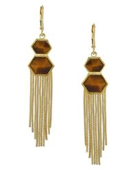 Vince Camuto | Metallic Fringe Earrings | Lyst
