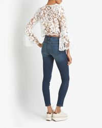 Alexis - White Lace Crop Top - Lyst