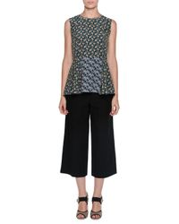 Marni - Black Twill Cropped Wide-leg Culottes - Lyst