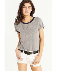 Truly Madly Deeply Gray Boyfriend Ringer Tee