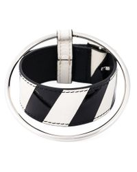 Raf Simons | White Leather And Metal Bracelet for Men | Lyst