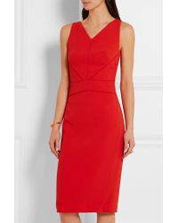Narciso Rodriguez - Black Satin-trimmed Stretch-crepe Dress - Lyst