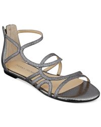 Ivanka Trump - Metallic Chant Flat Sandals - Lyst