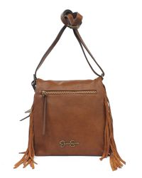 Jessica Simpson | Brown Romy Faux Leather Crossbody Bag | Lyst