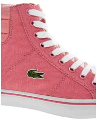 Lacoste | Marcel Mid Pink Hi Top Trainers | Lyst