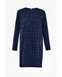 French Connection | Blue Ali Gator Dress | Lyst