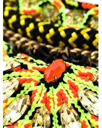Sveva Collection - Multicolor Cord Beaded Handmade Necklace - Lyst
