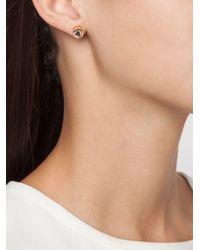 Eddie Borgo | Metallic Triangle Embellishment Round Earrings | Lyst