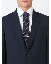 Lanvin - Blue Textured Tie for Men - Lyst