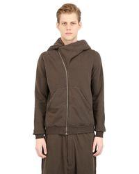 Rick Owens - Brown Drkshdw Hooded Asymmetrical Sweatshirt for Men - Lyst
