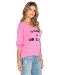 Wildfox - Pink After Children Sweatshirt - Lyst