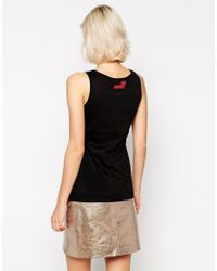 Love Moschino - Black Love Pop Embellished Sleeveless Vest - Lyst