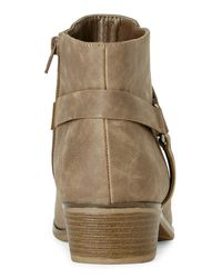 Kenneth Cole Reaction Brown Taupe Dolla Bill Short Boots