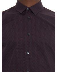 Marc Jacobs - Blue Geometric-print Cotton-poplin Shirt for Men - Lyst
