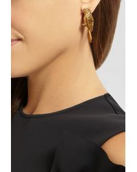 Virzi+de Luca - Metallic Blue Gold-Plated Earrings - Lyst