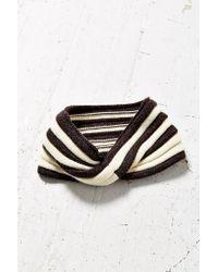 Urban Outfitters - Black Stripe Twisted Ear Warmer - Lyst