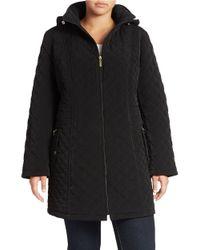 Gallery | Black Hooded Zip-front Rain Coat | Lyst