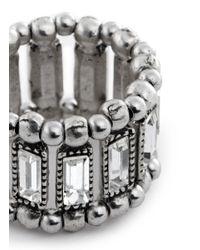 Philippe Audibert - Metallic 'titia' Emerald Cut Crystal Ring - Lyst