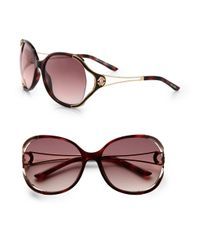 Roberto Cavalli Brown Clerodendro Round Oversized Sunglasses