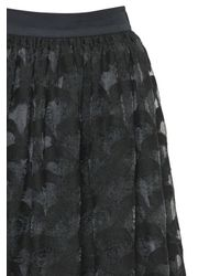 Tsumori Chisato - Black Embroidered Techno Organza Skirt - Lyst